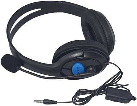 Triamisui Auriculares para Juegos con Cable Controladores de 40 mm para audífonos estéreo con micrófono y Aislamiento de Ruido para Sony PS3 PS4 Laptop PC Gamer Headphone: Amazon.es: Electrónica