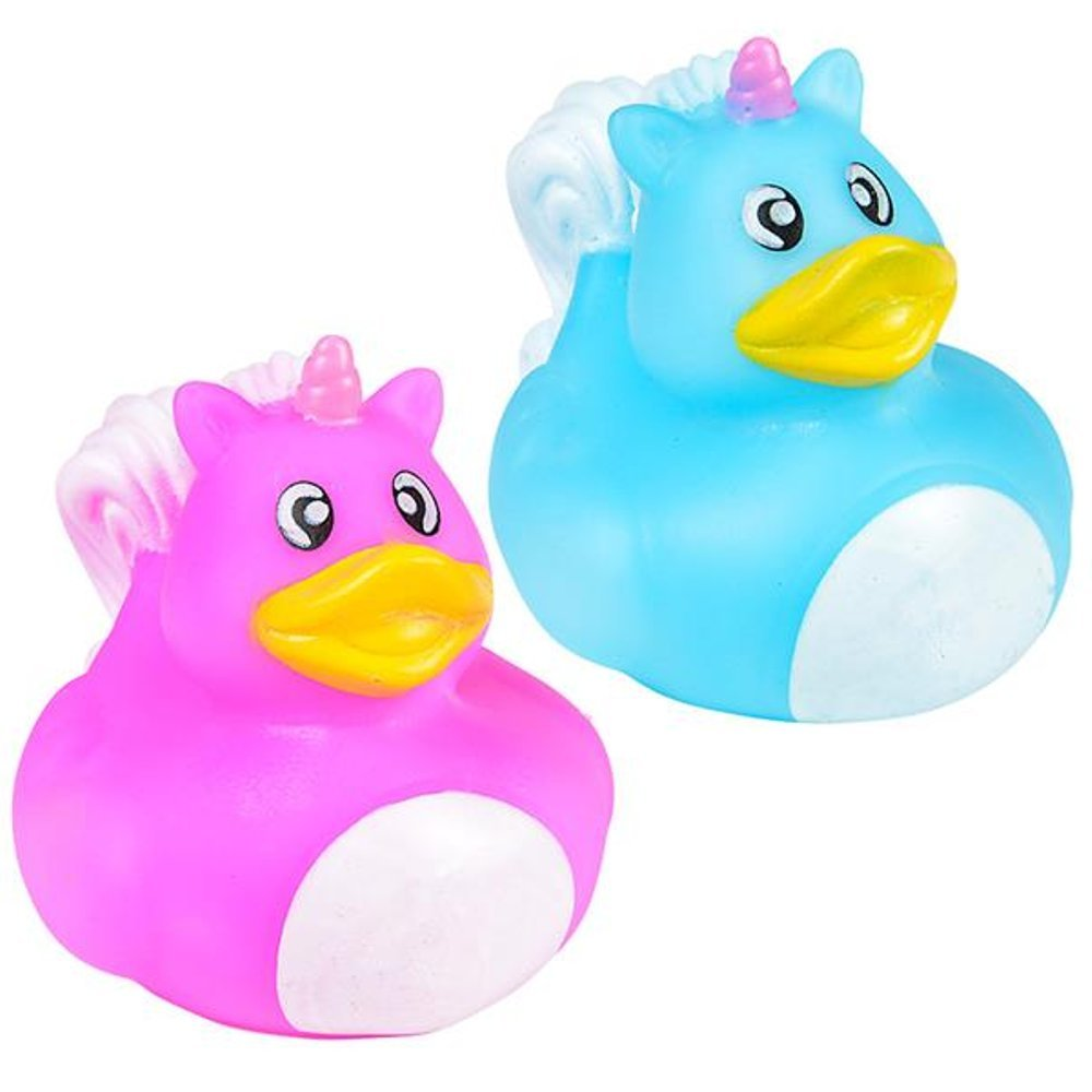 Baby Showers Unicorn Rubber Ducky All Time Favorite Bath Companion for Summer Beach and Pool Activity by Kidsco Kayco USA 12 Pieces 2 Multi-Colored Assorted Style Kids Toy for Party Favors Birthday Gifts