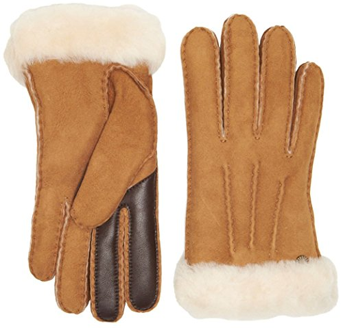 UGG Women's Carter Waterproof Sheepskin Tech Gloves Chestnut SM by UGG