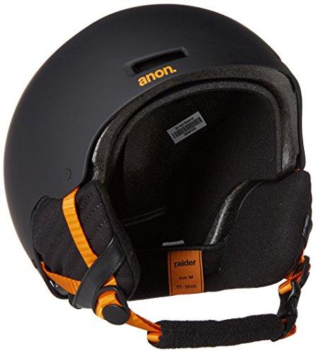 2012 Burton Mens Snowboard (Anon Men's Raider Helmet, Black/Orange, Medium)
