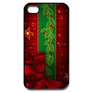 Merry Christmas Plastic Case Protective Skin for iphone 4 4S-NC9608 by lolosakes