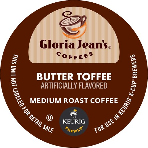 - Keurig, Gloria Jean's, Butter Toffee, K-Cup Counts, 50 Count