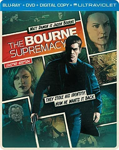 The Bourne Supremacy (Steelbook) (Blu-ray + DVD + DIGITAL with UltraViolet) by Universal Studios by Paul (Universal Studios Steelbook)