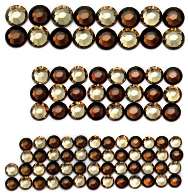 Swarovski Elements Hot Fix Crystals, Light Colorado-Smoked Topaz Combo Smoked Topaz Swarovski Crystal Beads
