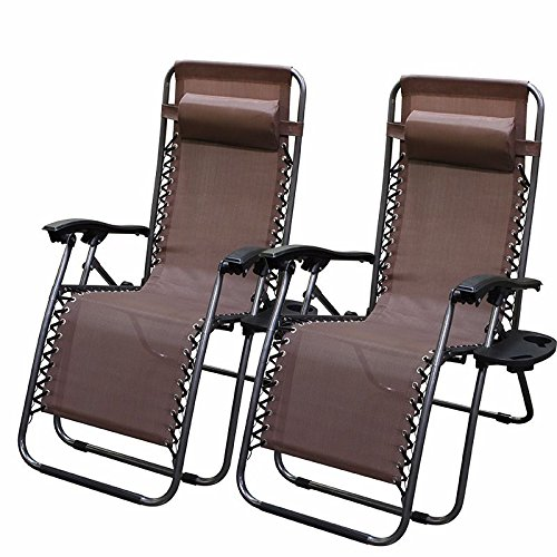 2-chairs-zero-gravity-chair-recliner-utility-tray-pool-black-brown-tan-navy-blue