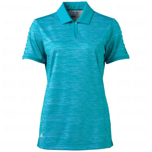 Adidas Ladies Puremotion Pleated Sleeve Polos Small Teal