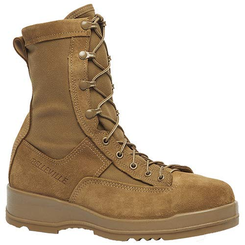 - Belleville 330COYST Men's Hot Weather Steel Toe Flight Boot, Coyote Brown - 11-R