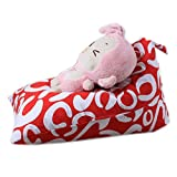 bestpriceam Kids Stuffed Animal Plush Toy Storage Bean Bag Soft Pouch Stripe Fabric Chair E