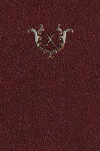 Read Online Monogram X Grid Notebook (Monogram Red 150 Grid) (Volume 24) ebook
