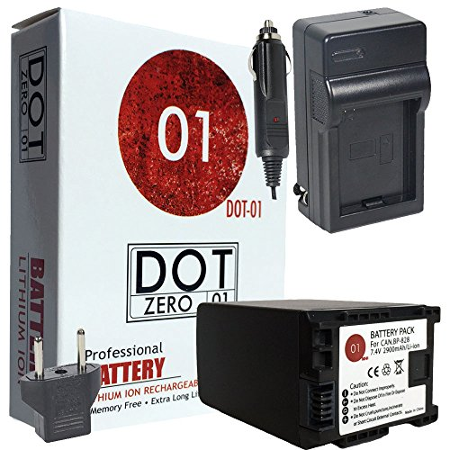 DOT-01 Brand Canon XA11 Battery and Charger for Canon XA11 Professional Camcorder and Canon XA11 Battery and Charger Bundle for Canon BP828 BP-828 by DOT-01