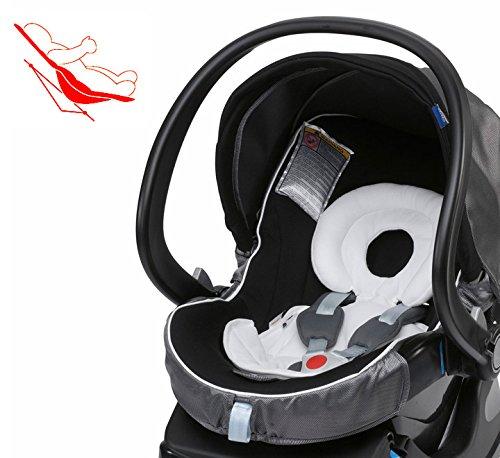 Ergos-System Neugeboreneneinsatz Babyschale //// gegen Verformung und Plattkopf //// mit integriertem Keilkissen //// f/ür nahezu alle g/ängigen Babyschalen der Klasse 0 und 0 geeignet