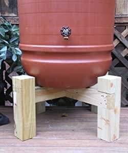 "Hamptons Rain Barrel Stand (Natural) (30""H x 14""W x 3""D)"