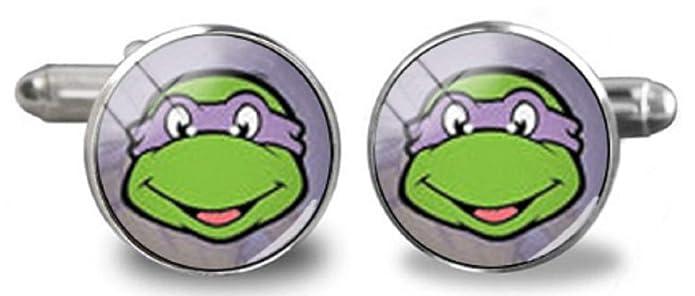 New Horizons Production Teenage Mutant Ninja Turtles Donatello Metal Enamel Cufflinks
