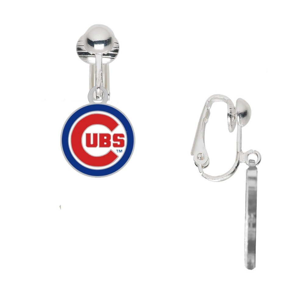 Final Touch Gifts Chicago Cubs Round Logo Earrings Clip-On