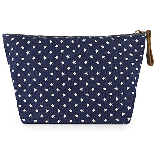 SMRITI Canvas Large Makeup Bag Pouch Purse Handbag Organizer with Zipper(Pentagram)
