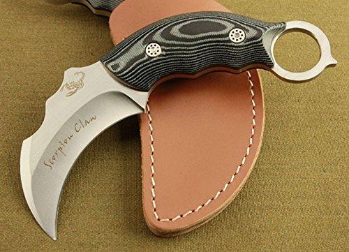 (REGULUS KNIFE Scorpions Survival Knife 440C Handle Sharp blade total length 15.6 cm)