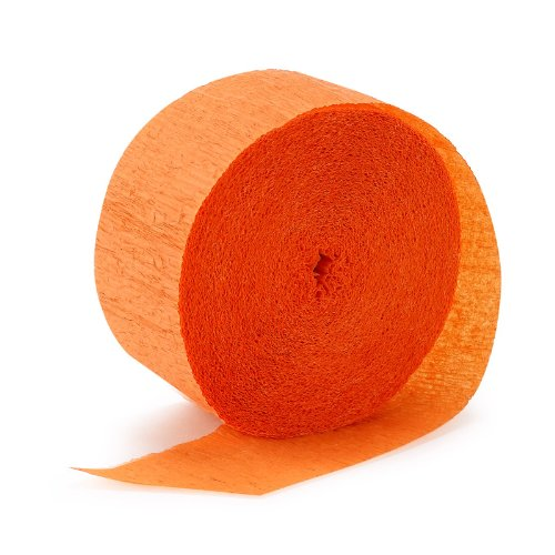 Bright Orange (Orange) Streamer (1 roll) (Crepe Paper Streamers Orange compare prices)