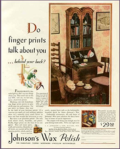 Amazon Com Lovely Home Decor In 1929 Johnson S Wax Polish Ad