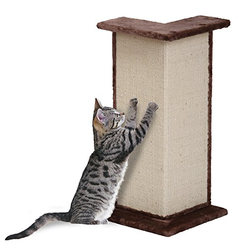Penn Plax Sisal Cat Scratcher Wall Corner Post and Perch ()