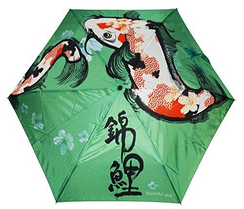 Indeed Umbrella Folding Umbrella UV Cut Nishikigoi (Colored Carp) from Japan