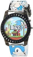 Sonic the Hedgehog Kid's Quartz Plastic Casual Watch, Color:Blue (Model: SNC4008)