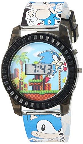 Sonic the Hedgehog Kids' SNC4008 Digital Display Quartz Blue Watch]()