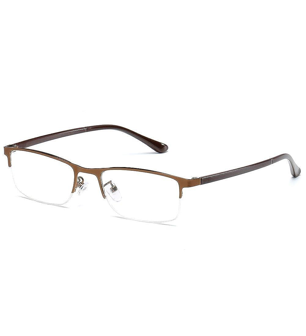 KOOSUFA Lesebrille Herren Damen Klassische Metallb/ügel Halbrandbrille Rechteckig Rahmen Vintage Lesehilfe Augenoptik 1.0x 1.5x 2.0x 2.5x 3.0x 3.5x 4.0x