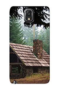 High Quality PNWgFau712wfdVS Forest Lodge Nature Fog Mood Tpu Case For Galaxy Note 3