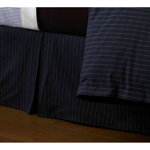 Lauren by Ralph Lauren Greenwich Modern Queen Bedskirt - Chalk (Chalk Stripe Skirt)