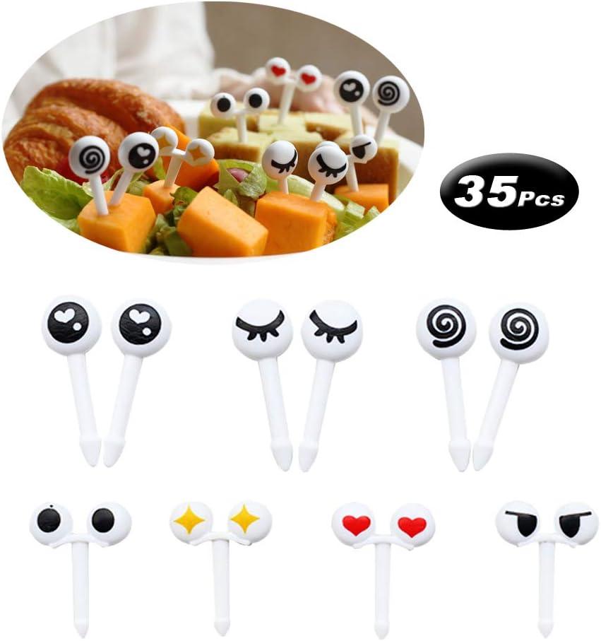35 Pcs Eye Toothpicks Picks, Food Fruit Picks Forks for Kids Baby Shower Birthday Party Cake Decoration Supplies