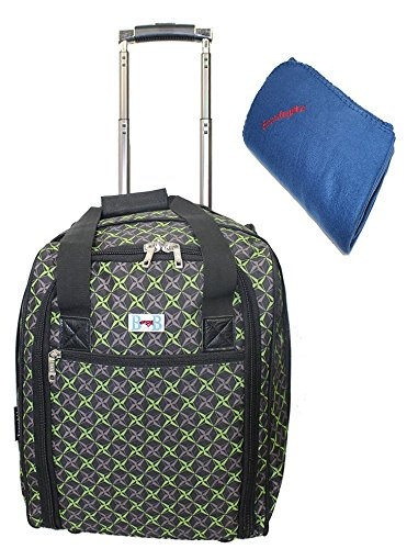 BoardingBlue New Spirit Airlines Rolling Personal Item Under (Spirit Airlines Under Seat Bag)
