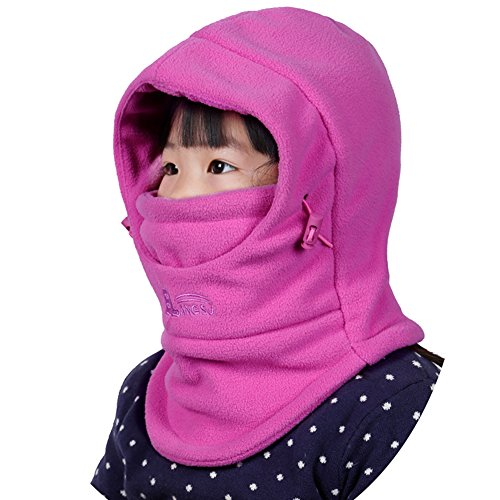 Childrens Winter Windproof Cap Thick Warm Face Cover Adjustable Ski Hat