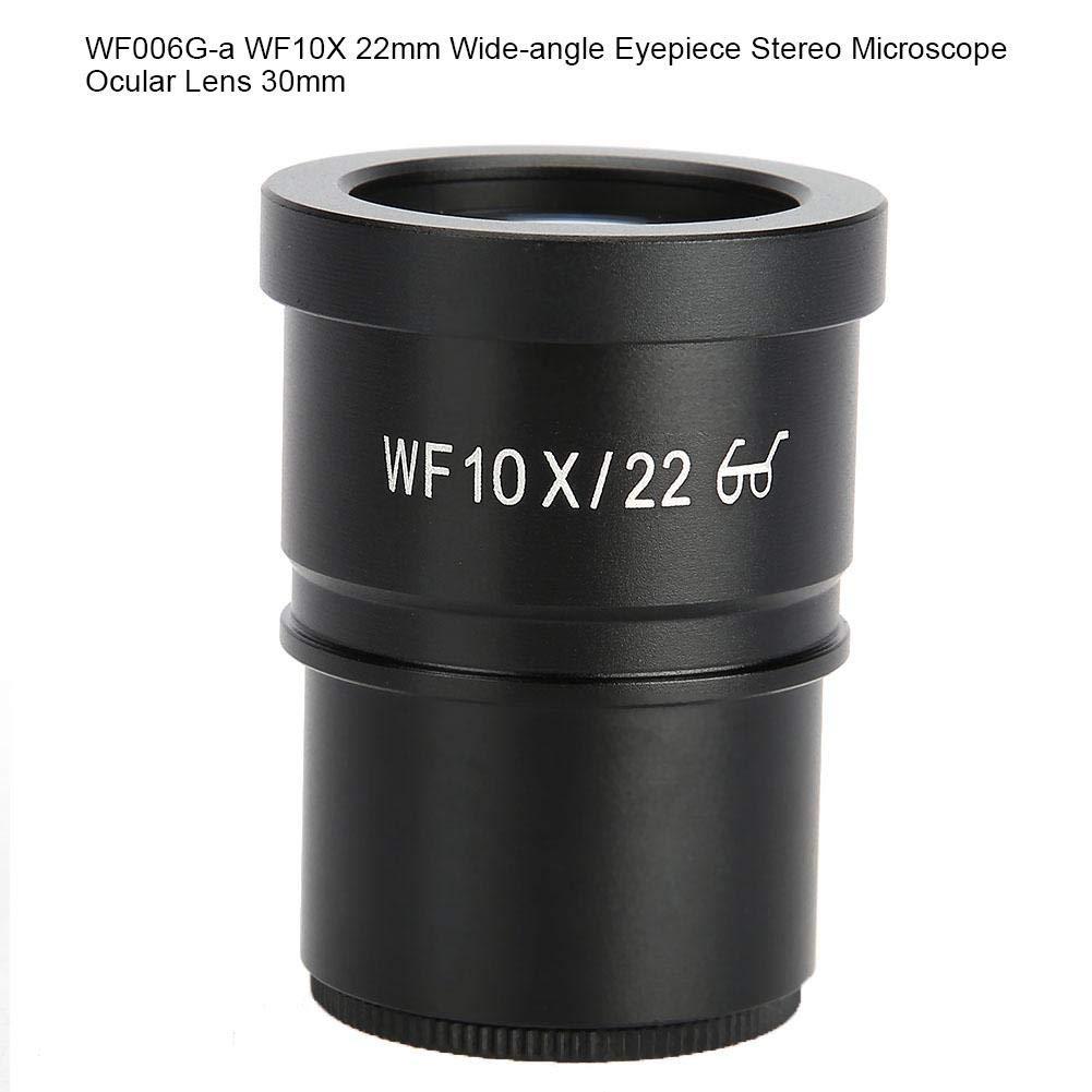Microscope Eyepiece Lenses,WF006G-a WF10X 22mm Wide-Angle Eyepiece Stereo Microscope Ocular Lens 30mm for Lab Microscopes