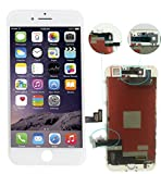"""ZTR LCD Touch Screen Digitizer Frame Assembly Full Set LCD Touch Screen Replacement for iPhone 7 4.7"""" - White"""