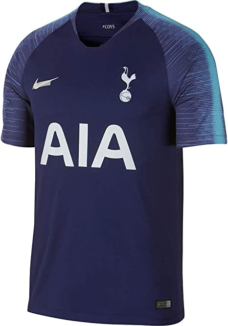 Amazon Com Nike Tottenham Away Men S Soccer Jersey 2018 19 S Blue Clothing