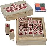 Stampmojis Emoji Gifts Set (Favorites Set + Ink Pad) Great Gifts for Girls & Kids Ages 4,5,6,7,8,9,10 Year Old