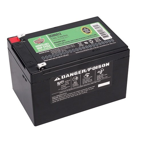 (FAST 2-DAY SHIPPING AVAILABLE - DCM0012 - Battery 12 volt 12 AH - Interstate Battery 12v 12 amp - 656489188069)