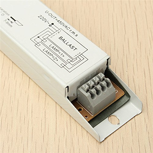 ILS AC 220-240V 2x36W voltaje amplio T8 lastre electr/ónico l/ámpara fluorescente Balla