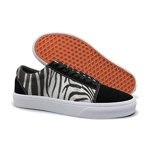 Armsttm Women Skate Shoes Zebra Portrait Classic Suede Sneaker Classic Shoes by Armsttm