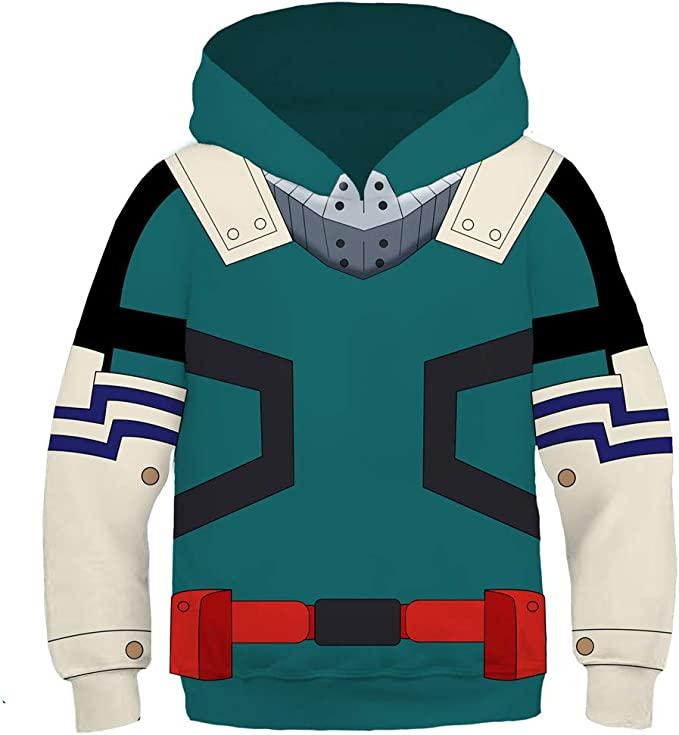 SUNERLADY Anime My Hero Academia Boys and Girls Hoodie Youth Hooded Pullover