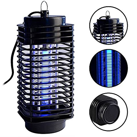 Electronics Mosquito Killer Trap Moth Fly Wasp Led Night Lamp Bug Insect Light Black Killing Pest (Moth Killing)