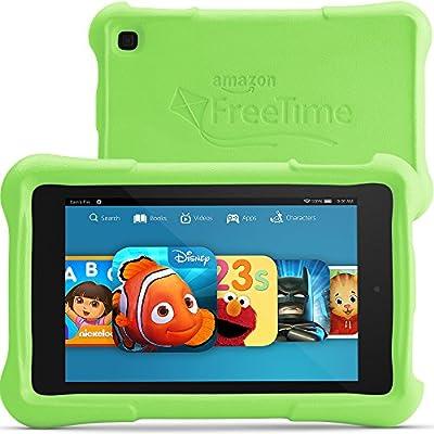 """Fire HD 7 Kids Edition, 7"""" HD Display, Wi-Fi, 8 GB, Green Kid-Proof Case"""