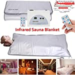 HUKOER Upgraded Version Far-Infrared (FIR) Digital Heat Sauna Slimming Blanket Body Shaper Weight Loss Professional Detox Therapy Anti Ageing Beauty Machine ...