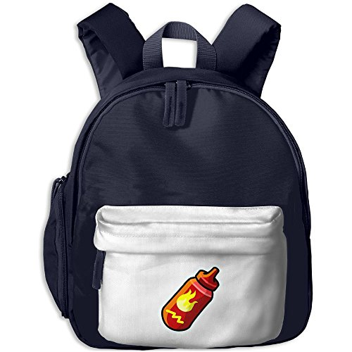 Cute Kids Backpack Hot Sauce Lovely Satchel Boys Girls Toy Book Bag Best For Boys Girls School (Month Plant Club Of The Best)
