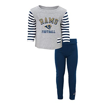 Amazon.com   Outerstuff St. Louis Rams NFL Grey Little Big Girl T ... 7e9b6bb8f
