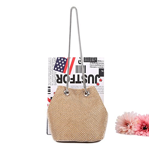 Party Bag Bags Prom Women's Handbags Clutch Wedding Shoulder 501 Evening Gold LeahWard xwqIUS