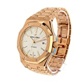 Audemars-Piguet-Royal-Oak-Automatic-Silver-Dial-18kt-Rose-Gold-Mens-Watch-15400OROO1220OR02