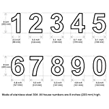 Mellewell Floating House Numbers, Large 8