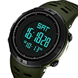 Mens Watches Fashion Digital Electronic Waterproof Military Green LED Sport Multifunction Wrist Watch