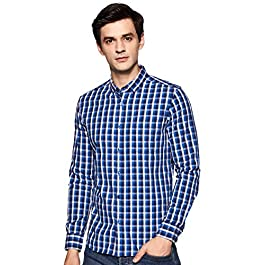 Amazon Brand – Symbol Men's Slim Fit Casual Shirt